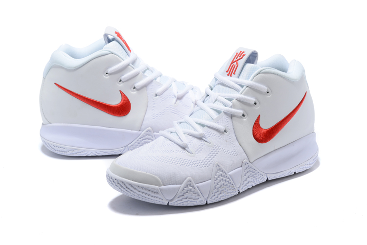 separation shoes 263ac 0d533 ... hot 2018 men nike kyrie 4 all white red heart shoes 98337 85049