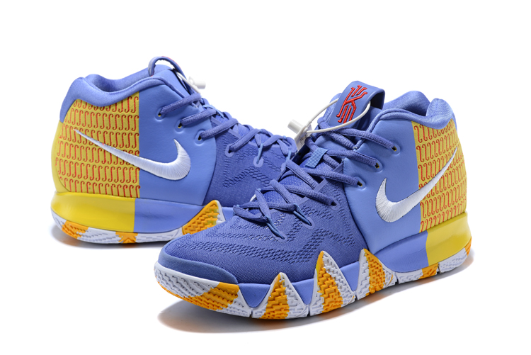 2018 Men Nike Kyrie 4 Blue Yellow Shoes