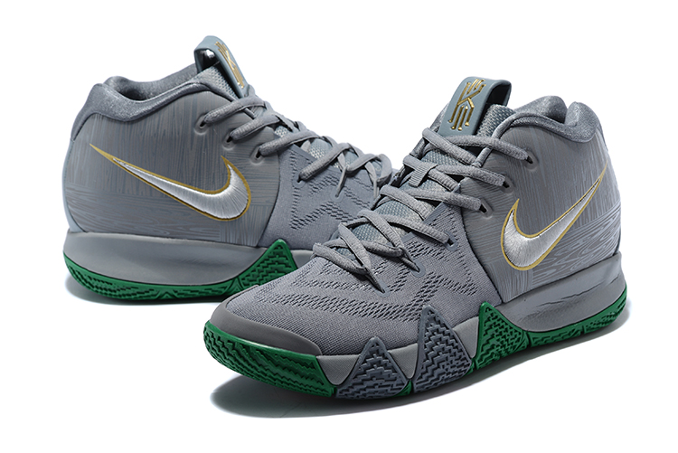 2018 Men Nike Kyrie 4 Grey Green Shoes