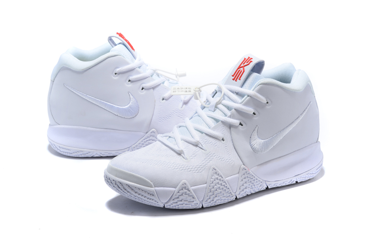 2018 Men Nike Kyrie 4 Love All White Shoes