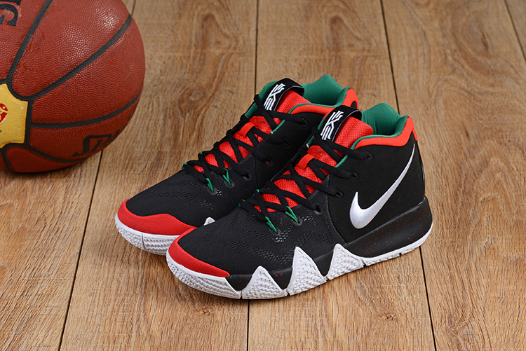 differently 04170 f5a5a 2018 Men Nike Kyrie Irving 4 Black Red Green Basketball ...
