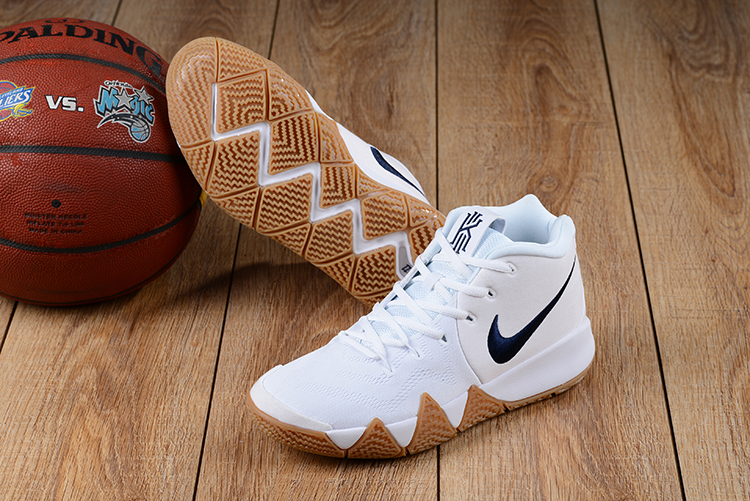 best website 7f38a 63f86 2018 Men Nike Kyrie Irving 4 White Gum Sole Basketball Shoes ...