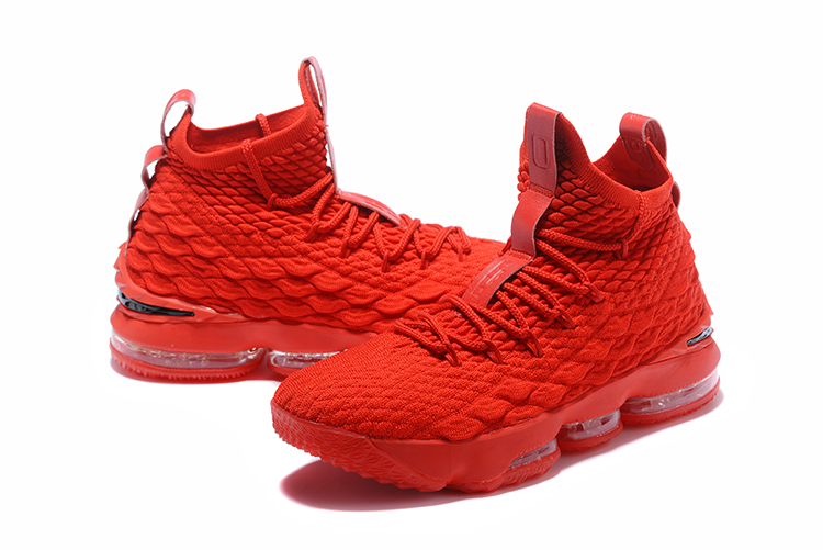2018 Men Nike Lebron 15 All Red Shoes