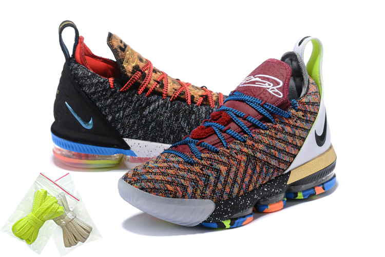 2018 Men Nike Lebron 16 Colorful Shoes