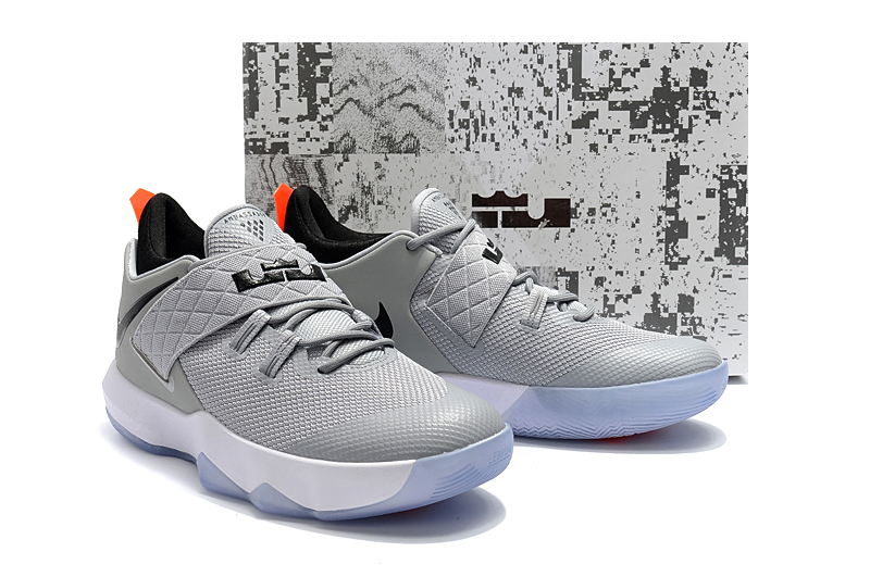 9c0cfa1451b7 2018 Men Nike Lebron Ambassador 10 Grey Black Shoes
