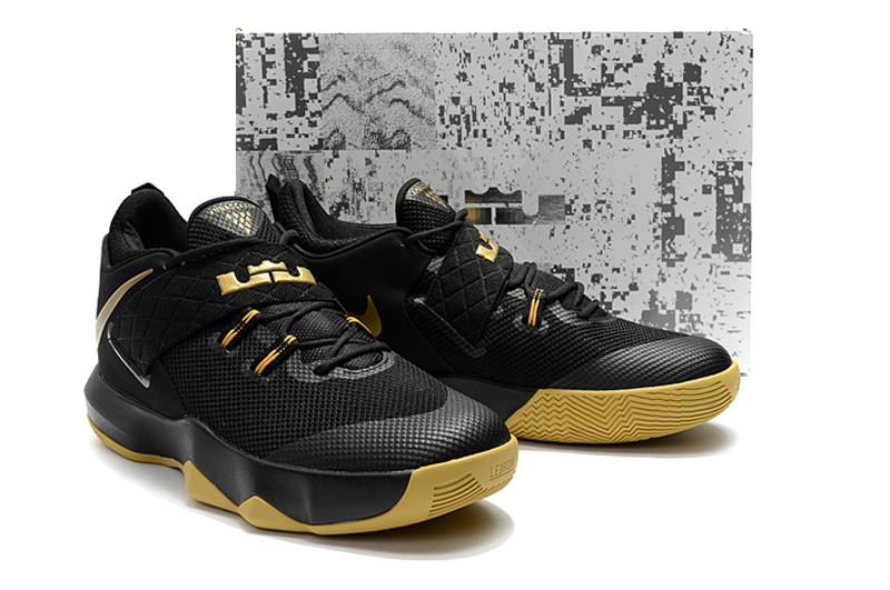 bc4bf4b5115a 2018 Men Nike Lebron Ambassador X Black Yellow Shoes