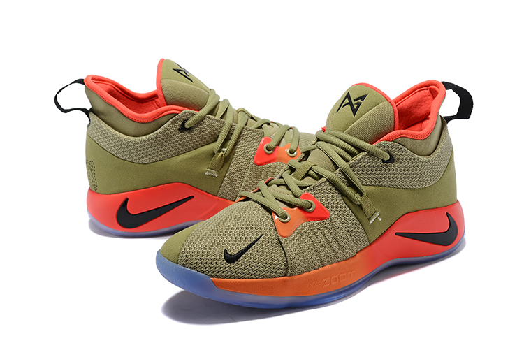 2018 Men Nike PG 2 Army Green Orange Black Shoes
