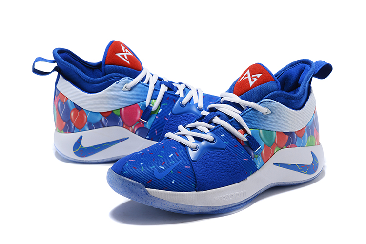 2018 Men Nike PG 2 Blue Red White Shoes