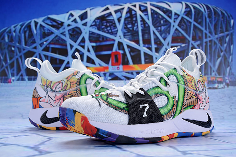 2018 Men Nike PG 2 White Green Dragon Shoes