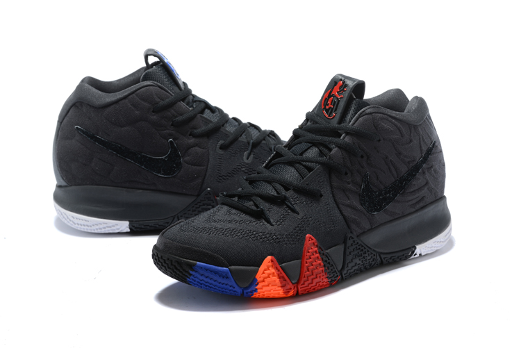 2018 Nike Kyrie 4 Black Orange Shoes For Women