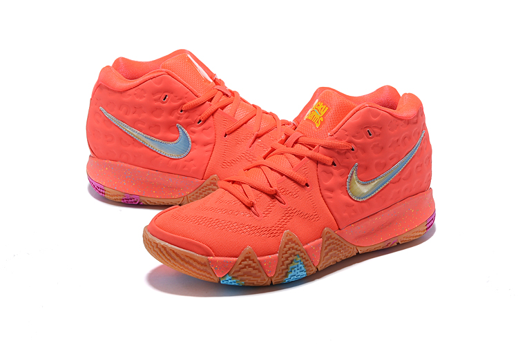 2018 Nike Kyrie 4 Red Jade Brown Shoes For Women