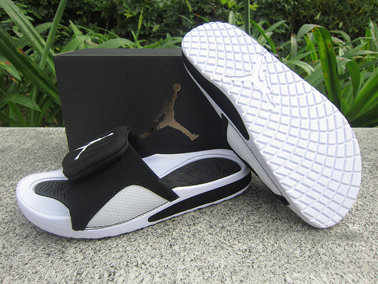 2018 Women Jordan Hydro V Retro Black White