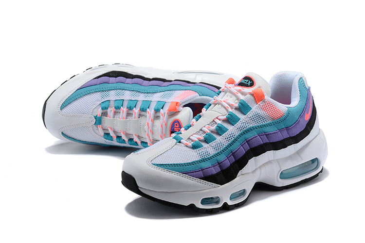 2018 Women Nike Air Max 95 White Jade Orange Shoes
