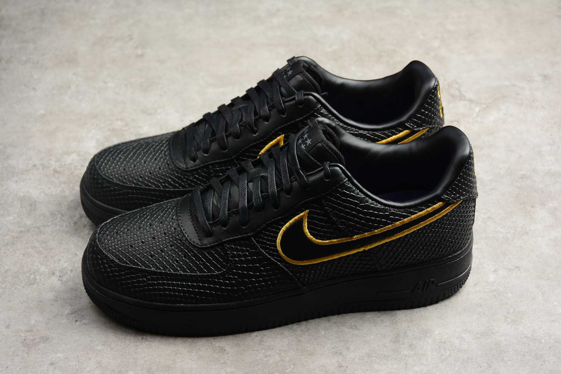 2018 new nike air force 1 low premium id black mamba kobe