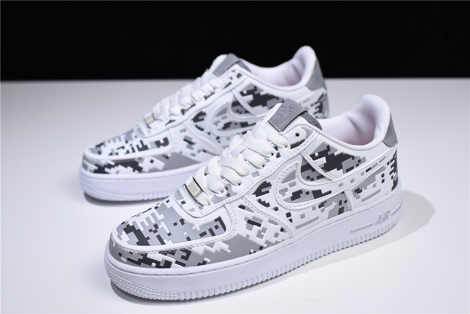2018 nike air force 1 premium qs digi camo white