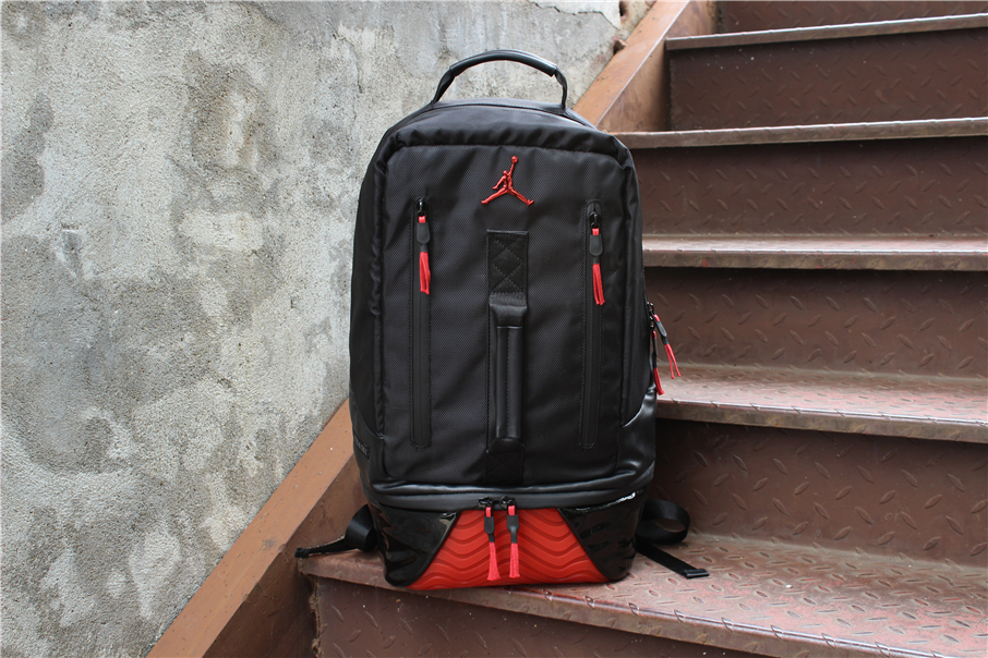 2019 Air Jordan 11 Backpack Bred Black Red