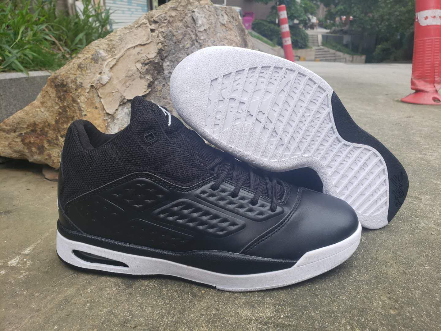 2019 Air Jordan New School Black White Shoes