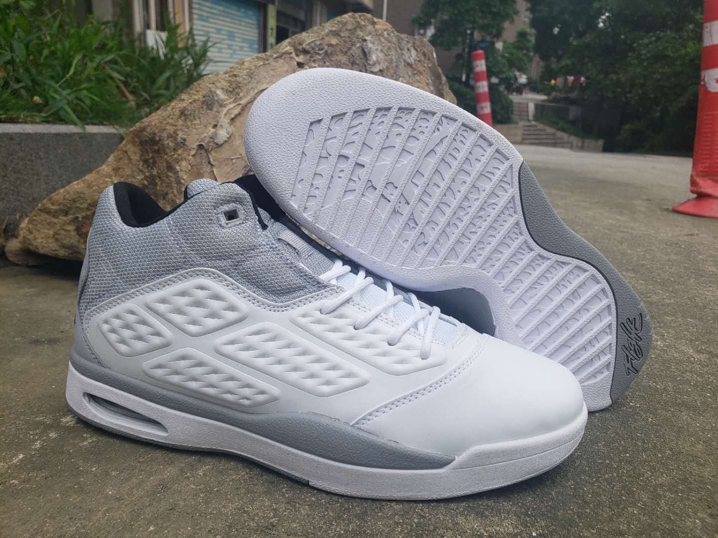2019 Air Jordan New School White Grey Shoes