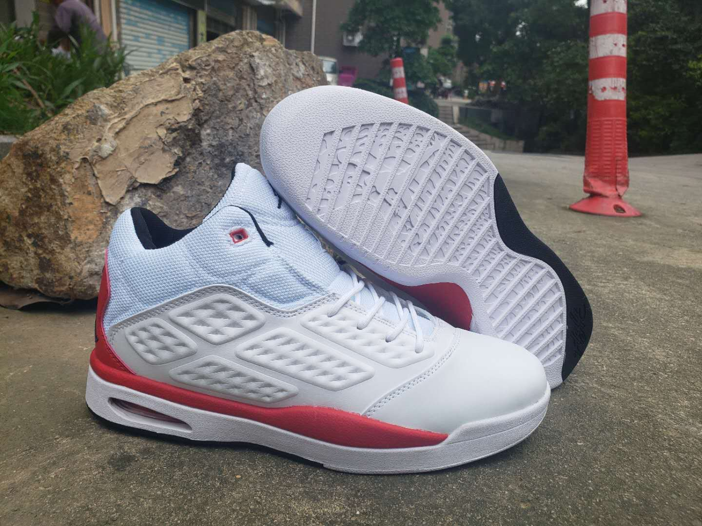2019 Air Jordan New School White Red Shoes