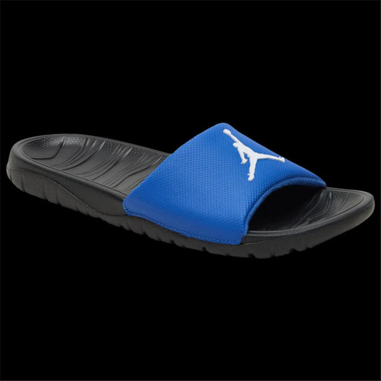 2019 Jordan Break Silde Sandals Black Blue White Hydro