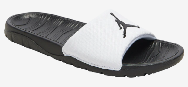 2019 Jordan Break Silde Sandals Black White Black Hydro