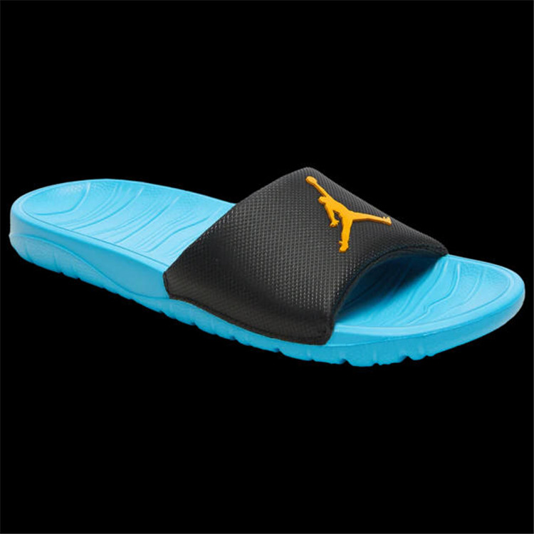 2019 Jordan Break Silde Sandals Blue Black Yellow Hydro
