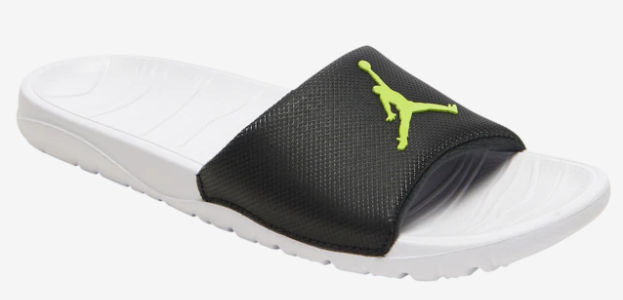 2019 Jordan Break Silde Sandals White Black Yellow Hydro