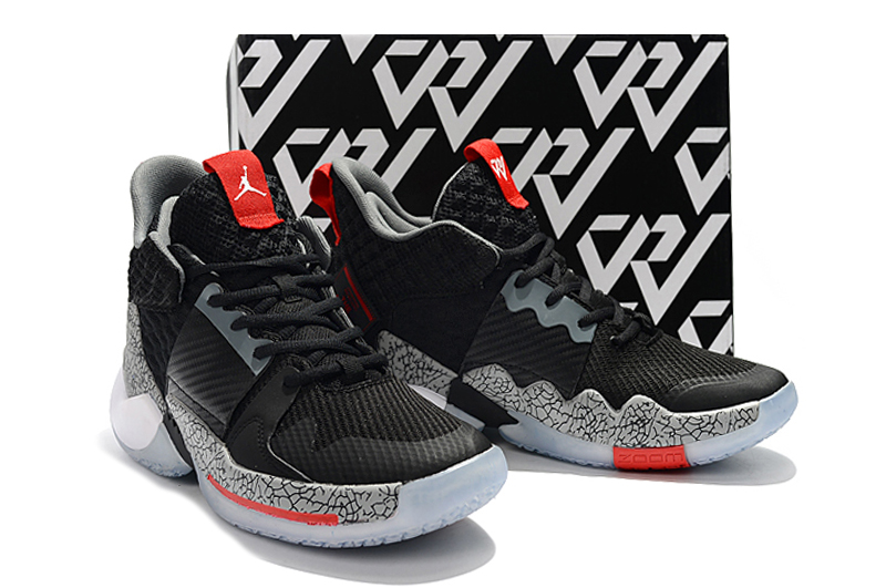 2019 Jordan Why Not Zer0.2 Black Cement Red For Women