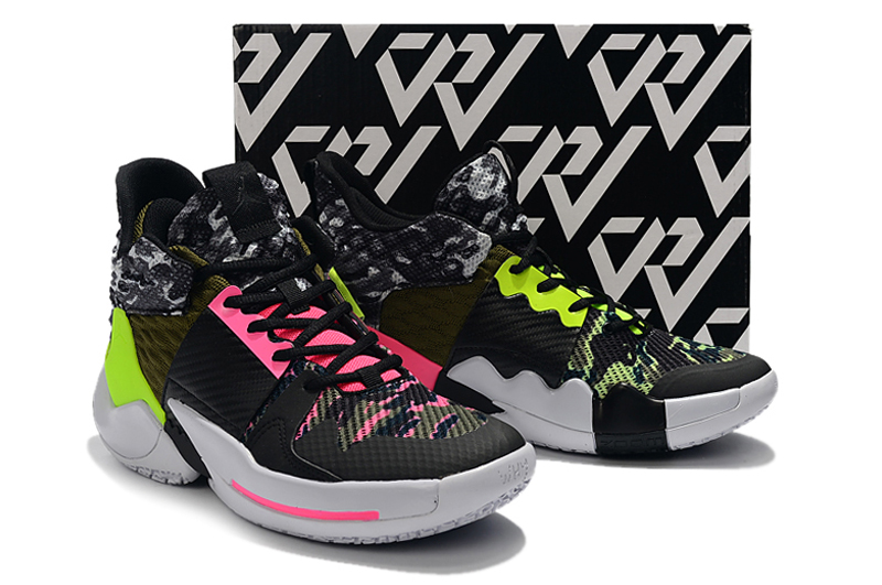 2019 Jordan Why Not Zer0.2 Black Pink Green For Women