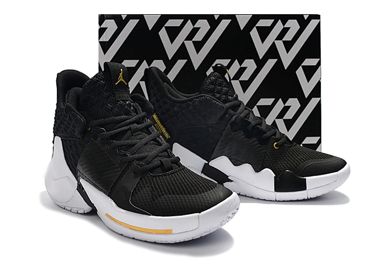 2019 Jordan Why Not Zer0.2 Black White Gold For Women