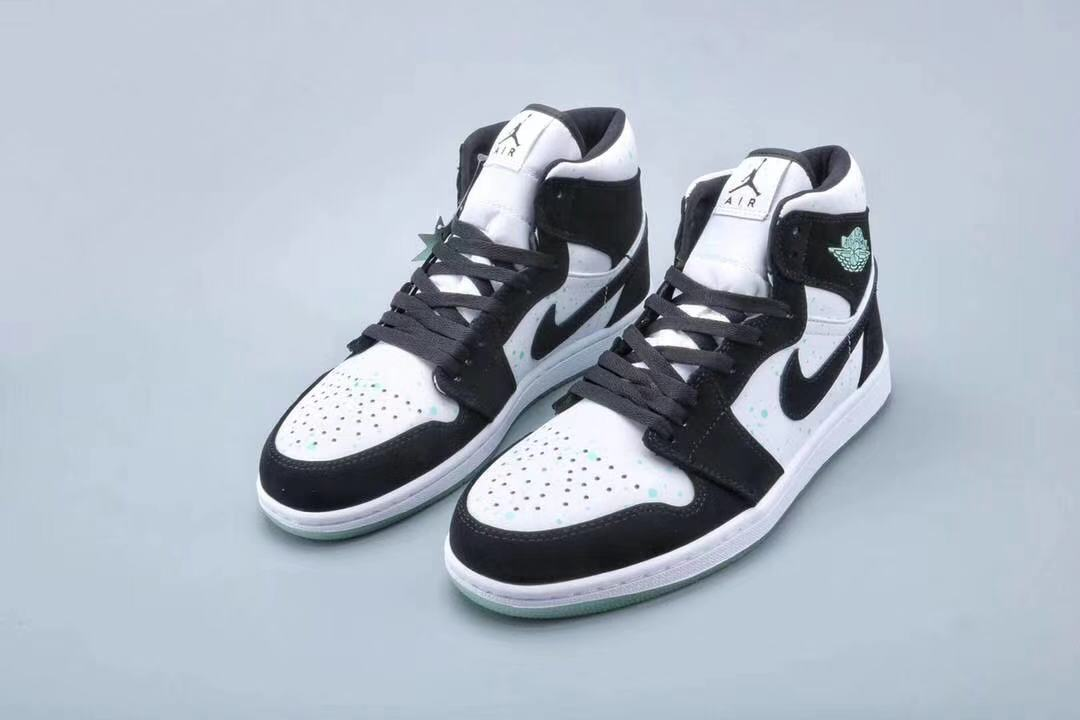 2019 Women Air Jordan High Midnight Black White Panda Shoes
