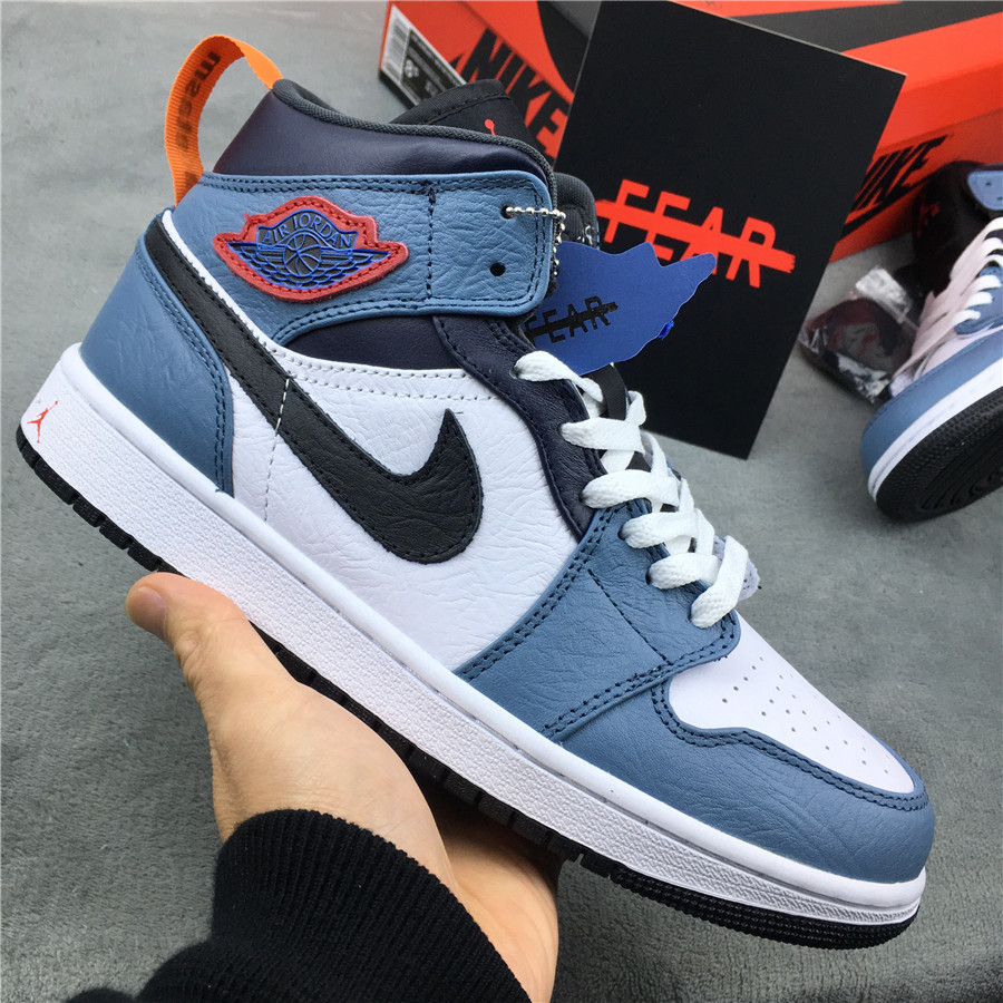 2019 Women Facetasm x Air Jordan 1 Mid Fearless Shoes