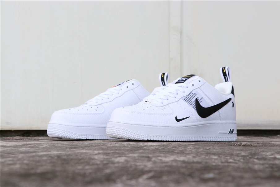 2019 Nike Air Force 1 '07 LV8 Utility White Black Shoes For Women