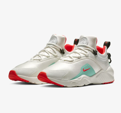 2019 Nike Air Huarache VIII White Red Green Shoes For Women