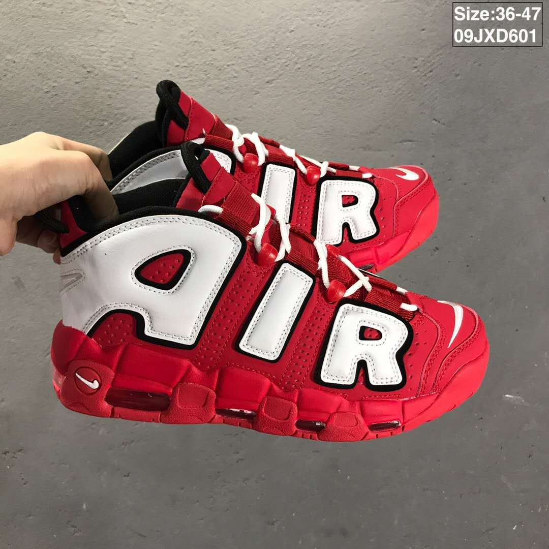 2019 Nike Air MoreUptempo Red White Shoes