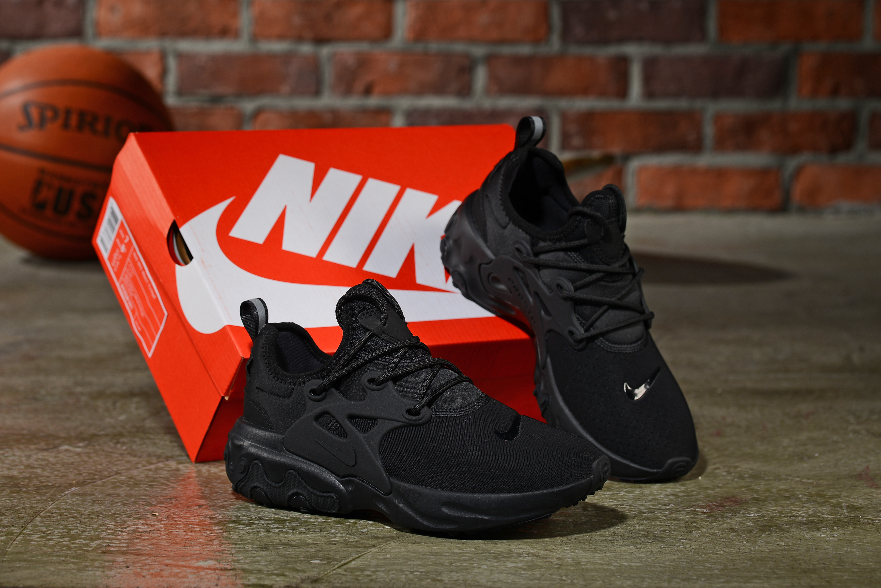 2019 Women Nike Epeic React All Black Shoes