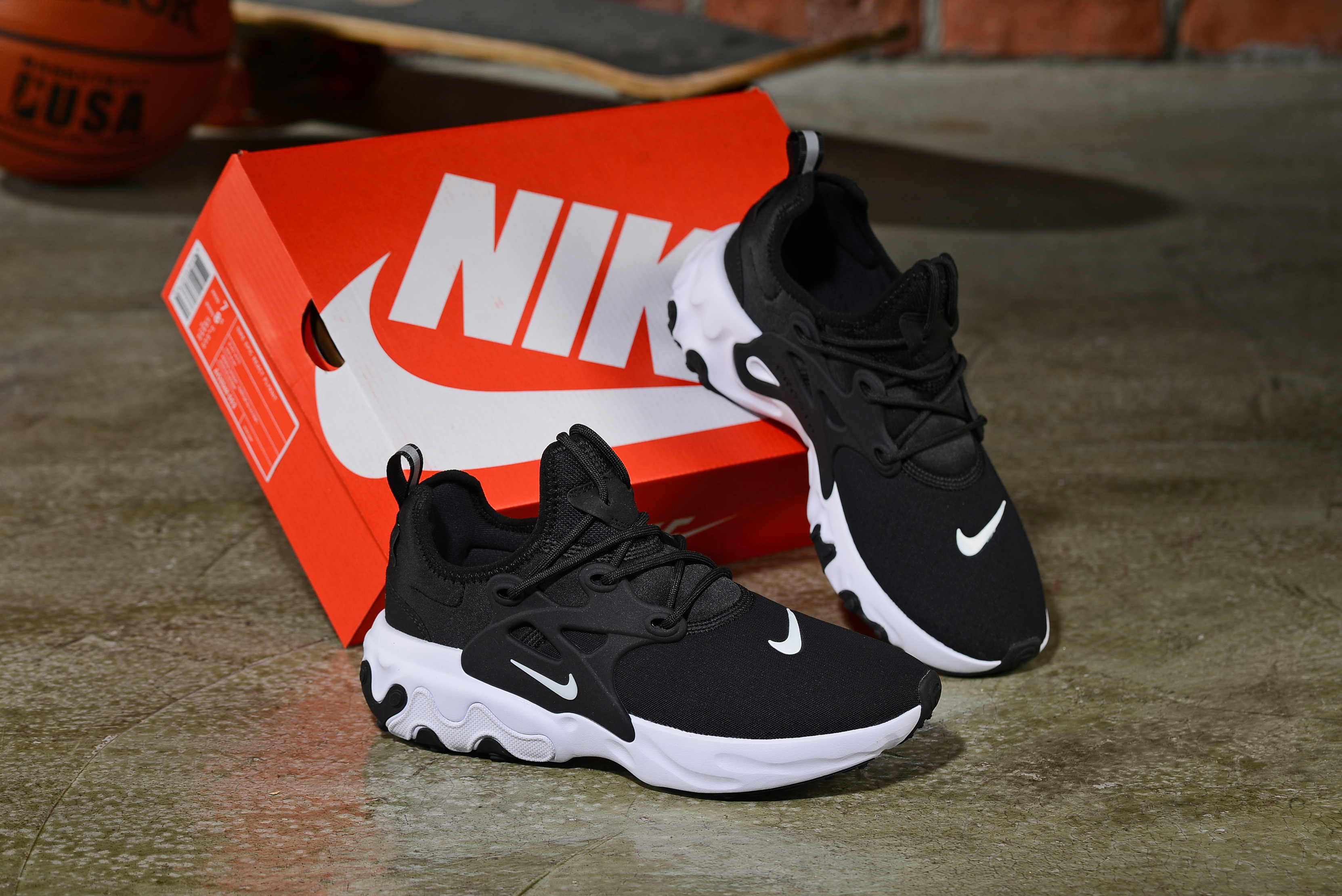2019 Women Nike Epeic React Black White Shoes