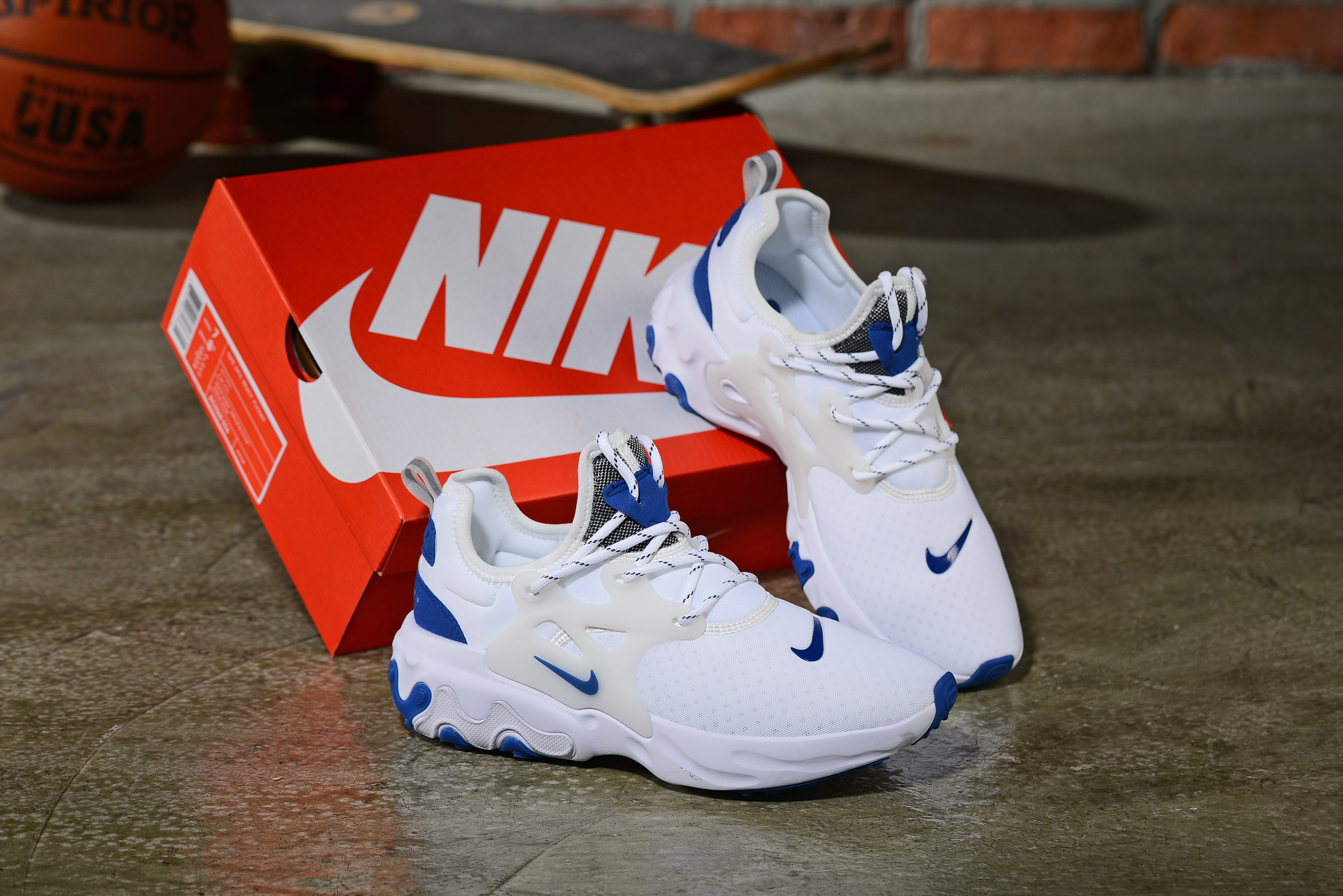 2019 Women Nike Epeic React White Blue Shoes