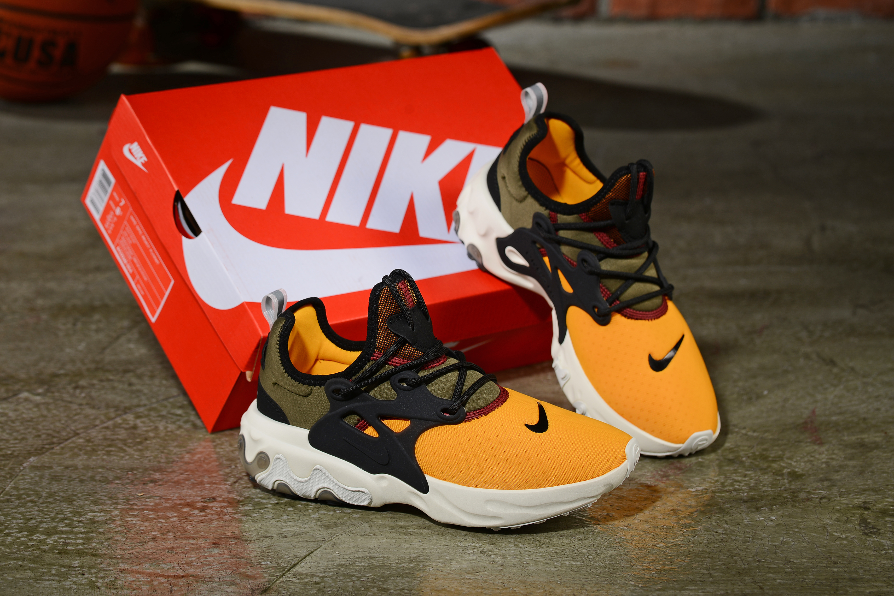2019 Women Nike Epeic React Yellow Black White Shoes