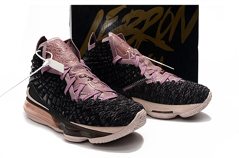 2019 Women Nike Lebron James 17 Black Pink Shoes