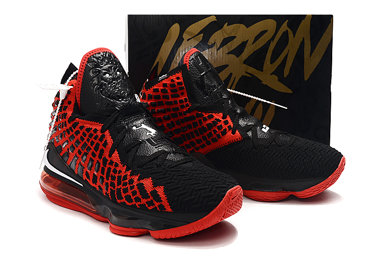 2019 Women Nike Lebron James 17 Red Black Shoes