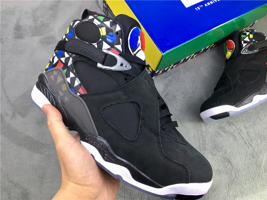 2019 Men Air Jordan 8 Quai54 Black Colorful Shoes