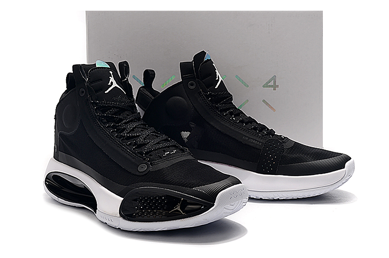2019 Men Air Jordan XXXIV Black White Shoes