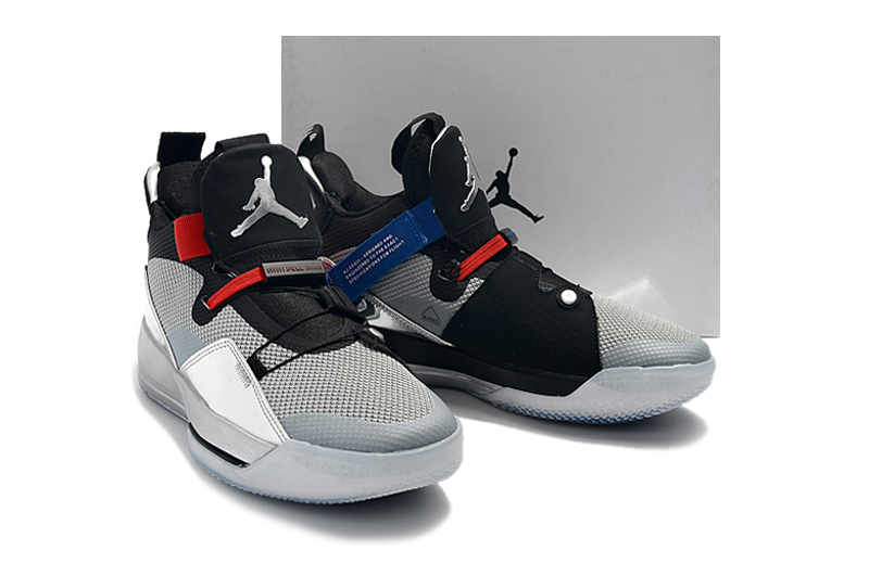 2019 Men Jordan 33 Black Silver Red Shoes