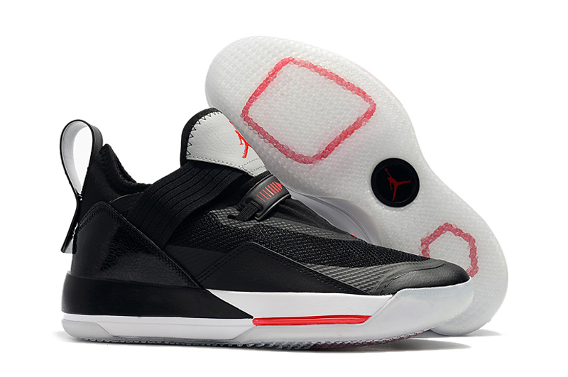2019 Men Jordan 33 Low Black Red White Shoes