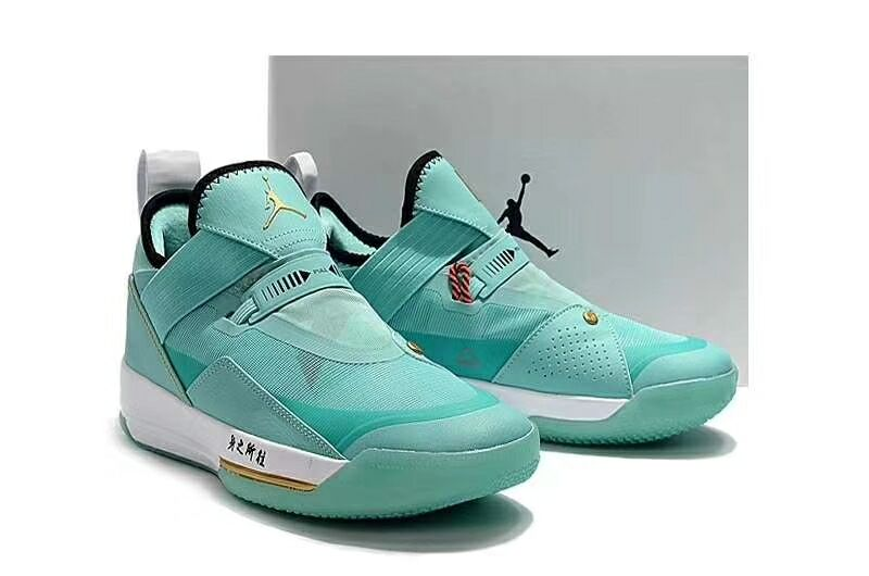 2019 Men Jordan 33 Midnight Jade Blue Shoes