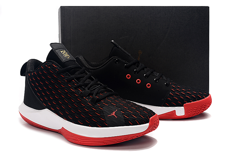 2019 Men Jordan CP3 12 Black Red White Shoes