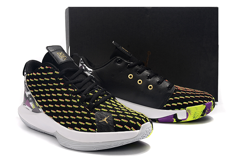 2019 Men Jordan CP3 12 Black Yellow White Shoes