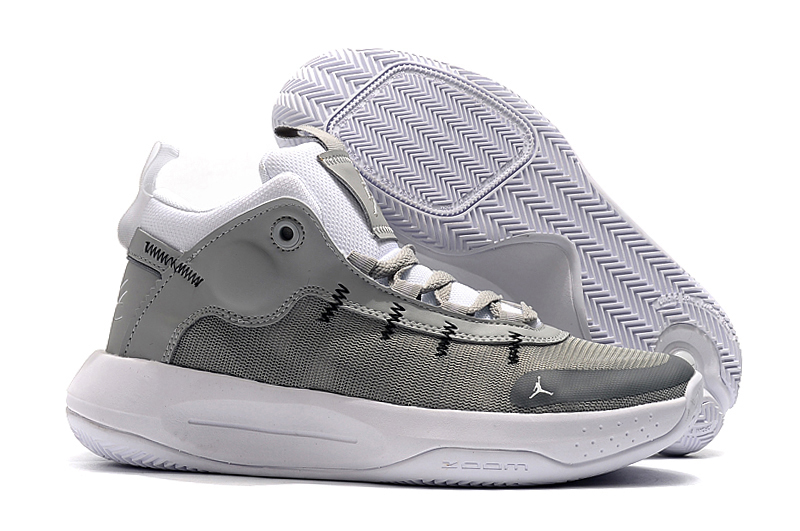 2019 Men Jordan Jumpman 2020 PF Grey White Shoes