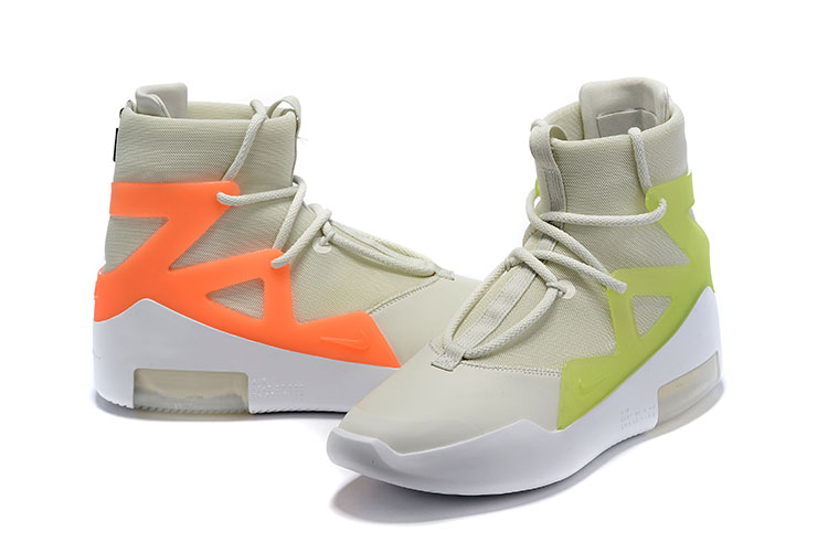 2019 Men Nike Air Fear of God Grey Orange Green Shoes